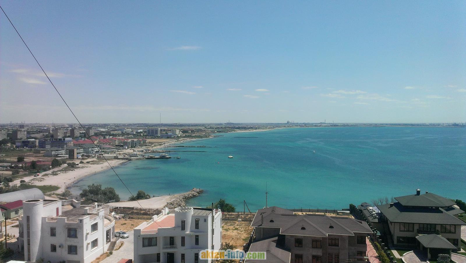 Морской залив в Актау