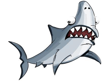 Каспийском море акулы